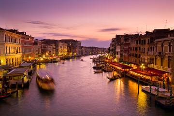 Canal Grande al tramonto a Venezia