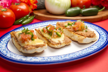 Mexican Molletes Dish