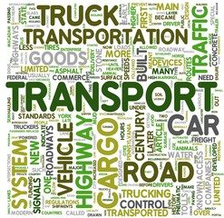 Transport concept words in tag cloud