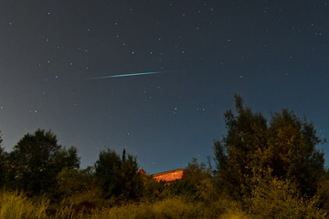 Meteor crossing the sky