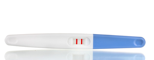 pregnancy test is isolated on white