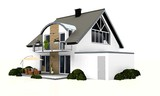 Fototapety 3d detached house