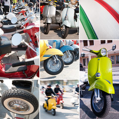Italian scooter collage - Vespa