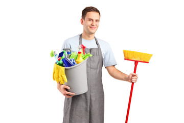 A smiling cleaner
