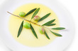 Piatto di olio&olive close-up