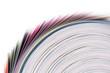 Leinwandbild Motiv Rotolo di carta colorata