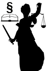 justitia silhouette incl. clipping path
