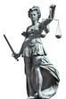 Leinwanddruck Bild - justitia incl. clipping path