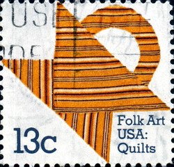 Folk Arts USA : Quilts. US Postage.