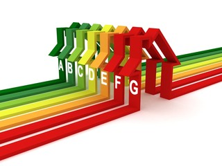 Energy efficiency colorful concept