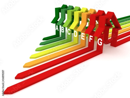 Energy efficiency concept on white background