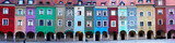 Fototapety Panorama of facades of houses of old Poznan, Poland