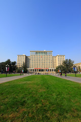 Tsinghua university campus architecture and landscape in China