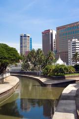 Kuala Lumpur: La biforcazione del fiume