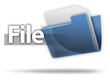 "3D Style Folder Icon ""File"""