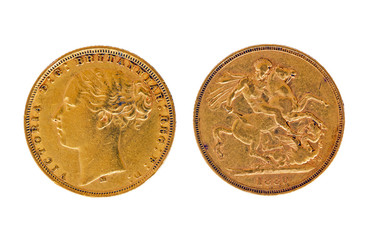 Gold sovereign 1880