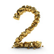 Golden Number 3d Rendered Isolated