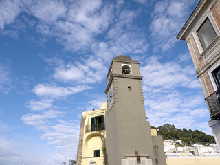 Clocktower on the Isle of Capri Campania Italy