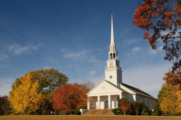 church in a rural setting