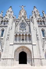 Eingang Kirche Sagrat Cor auf dem Tibidabo, Barcelona