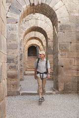 Tourist in ancient city