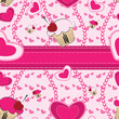 Abstract seamless pattern with hearts