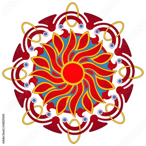 flaming sun mandala