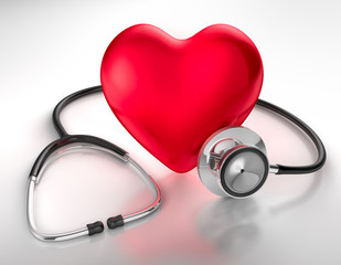 Herz und Stethoskop 2