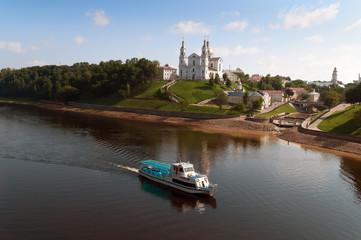 Belarus nice Vitebsk landscape view of St. Uspenski Cathedral ov