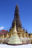 Restoration of stupa poster