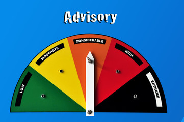 Advisory warning sign - moderate danger
