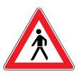 Verkehrsschild - 133 Fußgänger