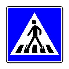 Verkehrsschild - 350 Fußgängerüberweg