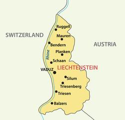 map of Liechtenstein - vector illustration