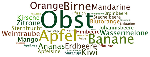 Tag Cloud Obst