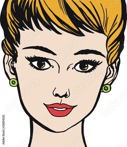 rostro de una mujer hermosa