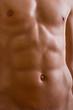belly naked male body