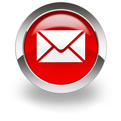 email symbol on red icon