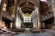 canvas print picture - Sanctuary. Abandoned City Methodist Church in Gary, Indiana. HDR