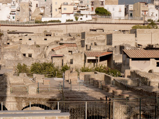 Modern Ercolano with the buried city of Herculaneum Italy