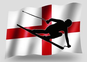 Country Flag Sport Icon Silhouette English Ski
