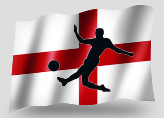 Country Flag Sport Icon Silhouette English Soccer