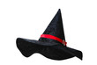 Black witch hat with red strip