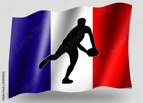Country Flag Sport Icon Silhouette French Rugby Pass