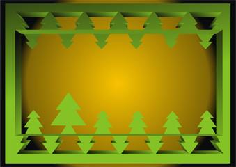 3d rahmen nadelbäume