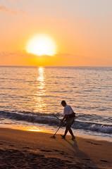 sunrise on the beach malagueta, Andalucia