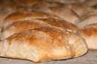 Barras de pan tostado casero en el horno