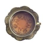 filled nostalgic tea cup poster