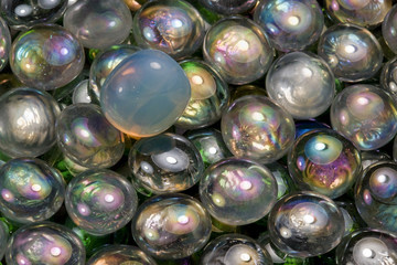 iridescent glass beads
