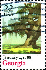 Georgia. January 2,1788. US Postage.